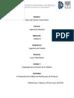 1.2 Desarrollo de La Matriz de Planificación de Producto