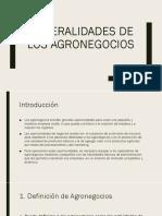 Generalidades de Los Agronegocios Final