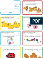 Tarjetas de Desafio de Matematicas Problemas de Sumas y Restas Hasta 100 Con Palabras