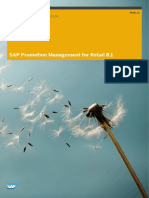 SAP Promotion Management for Retail Administrators Guide 81E