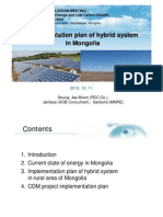 Implementation Plan of Hybrid System in Mongolia