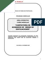 Carpinteria de Acabados (Documento de Trabajo)