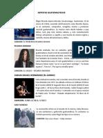 Artistas y Actores Guatemaltecos