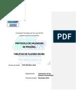 Protocolo Validación Procesos