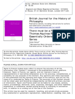 British Journal for the History of Philosophy Volume 21 Issue 5 2013 [Doi 10.1080_09608788.2013.816934] Cohoe, Caleb -- There Must Be a First- Why Thomas Aquinas Rejects Infinite, Essentially Ordere