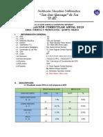 PROGRAMACION  ANUAL 5°-2019  UNIDAD 1 Y 2  C Y T.-MARITZA.docx