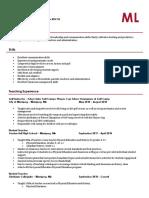 education resume