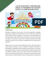 Cuentos Para La Paz Herramienta Pedagogica