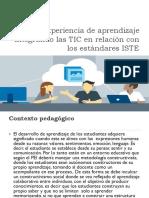 Experiencia de aprendizaje integrando las TIC en relación con los estándares ISTE