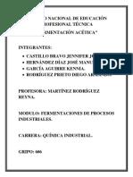 Reporte de Practica Produccion de Penicilina del conalep-x
