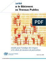 Dte 146 Guide Securite Batiment Travaux Publics