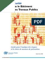 Dte 146 Guide Securite Batiment Travaux Publics