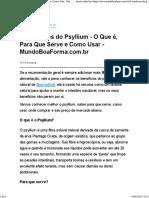 8 Benefícios Do Psyllium - O Que é, Para Que Serve e Como Usar - MundoBoaForma.com.Br