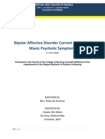 A Case Study; Bipolar Affective Disorder Current Episode of Manic Psychotic Symptoms (2018)