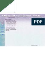 (Health) Thyroid Functions Tests