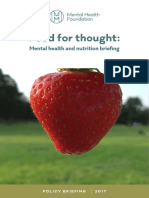 Food for Thought Mental Health Nutrition Briefing March 2017