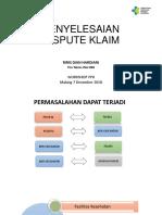 Materi Dispute Klaim _ Malang
