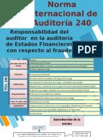 NIA 240, 250 Y 260