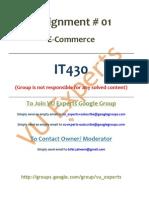 IT430 Assignment Idea Solution