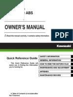 Kawasaki KLE 650 Versys - Owners Manual - 2015 - #2506.pdf