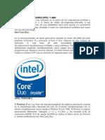 Tipos de Procesadores Intel y