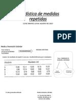 Clase 2. Estadística de Medidas Repetidas