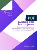Gpaz Observaciones Sobre La Incorporación Del Enfoque de Género en El Acuerdo de Paz