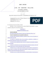 Reproductive Privacy Act