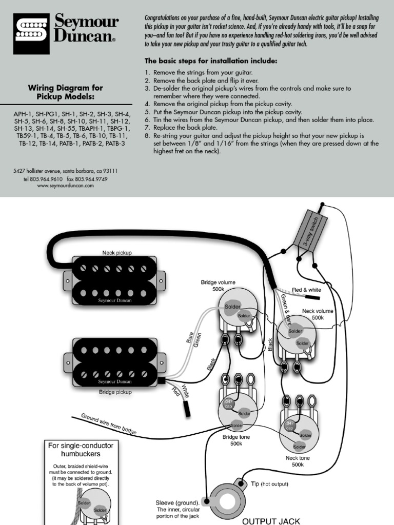 Seymour Duncan Pearly Gates Wiring Diagrams Cat 3126 Engine Wiring ...