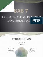 08 Kaedah-Kaedah Kulliyyah Yang Bukan Utama