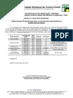 Edital 11 PPGF Resultado Final Doutorado