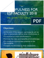 Mindfulness for Esp Faculty 20182
