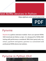 Pynvme Introduction