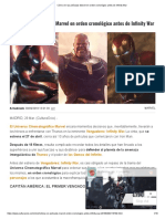 Cómo Ver Las Películas Marvel en Orden Cronológico Antes de Infinity War
