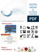 Digital media for students, teachers and academia