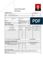 Application of Employment (Gabriel Mahligai Pampang)