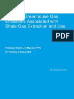 Potenciales emisiones de gases de efecto invernadero asociado con la extracción de gas shale