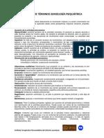 Glosario de Términos Semiología Psiquiátrica