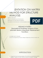 Presentation on Matrix Method for Structure Analysis