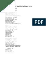 Ikaw Ang Dios Sa Gugma Lyrics
