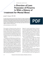 Bad Risk - An Overview of Laws Prohibiting Possession of Firearms by Individuals With a History of Treatment for Mental Illness; By Joseph R. Simpson, MD
