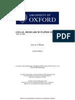 Green - Law as a Means (Hart-Fuller Debate)