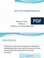Evaluation of Parenteral s