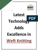 Weft Knitting Machine