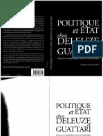 Sibertin-blanc Politique Ete Etat Chez Deleuze Et Guattari