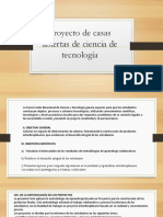 Proyecto de Casas Abiertas de Ciencia de Tecnología