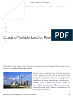 Effects of Variable Load on Power Station