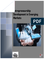 Entrepreneurship Development in Emerging Markets