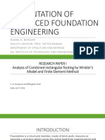 Advanced Foundation Engineering of Combined Footing