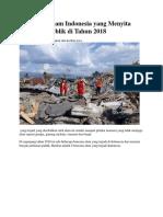 5 Bencana Alam Indonesia Yang Menyita Perhatian Publik Di Tahun 2018